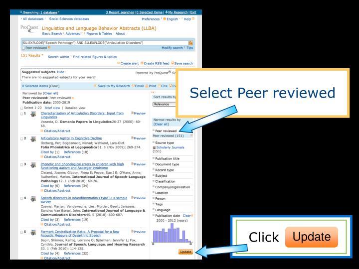 Select Peer reviewed