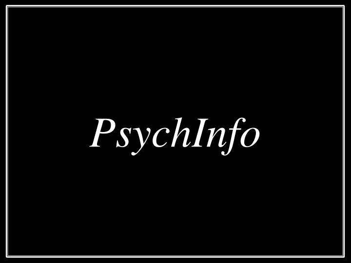 PsychInfo