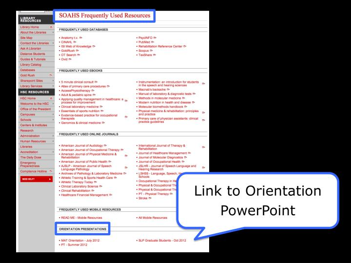 Link to Orientation PowerPoint