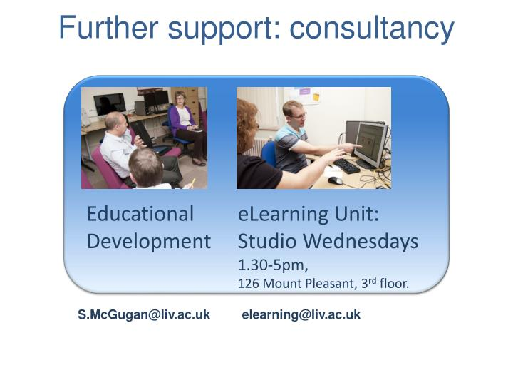 Further support: consultancy