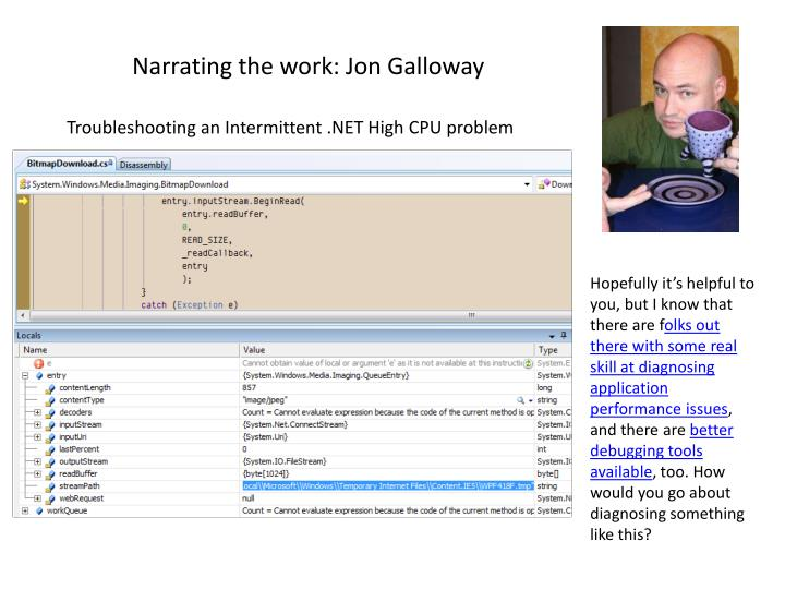 Narrating the work: Jon Galloway