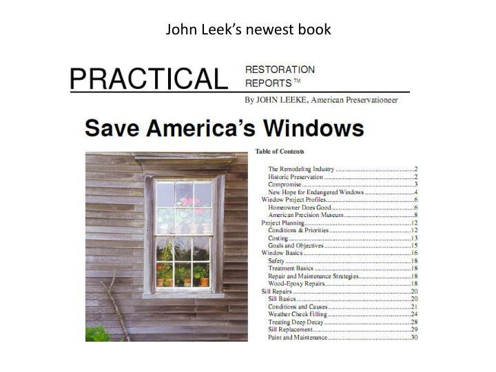 John Leek's newest book