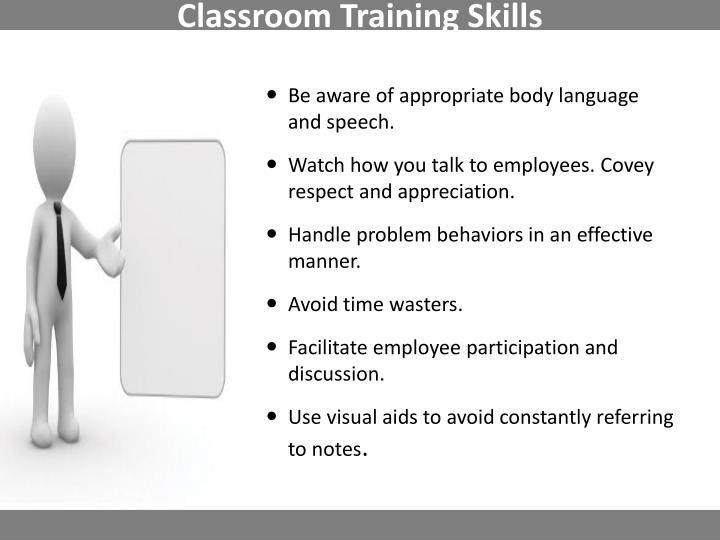 Classroom Training Skills