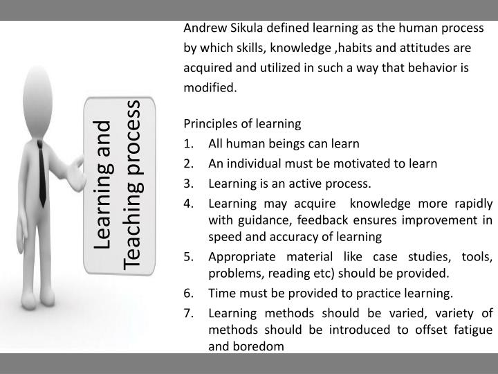 Learning and Teaching process