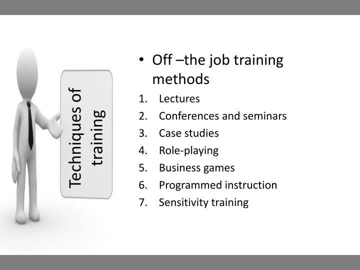 Techniques of training