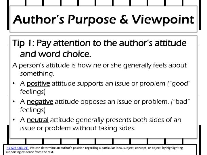 Author's Purpose & Viewpoint