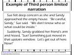 example of third person limited narration