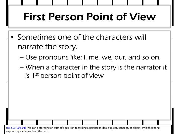 First Person Point of View