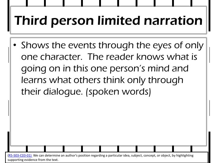 Third person limited narration
