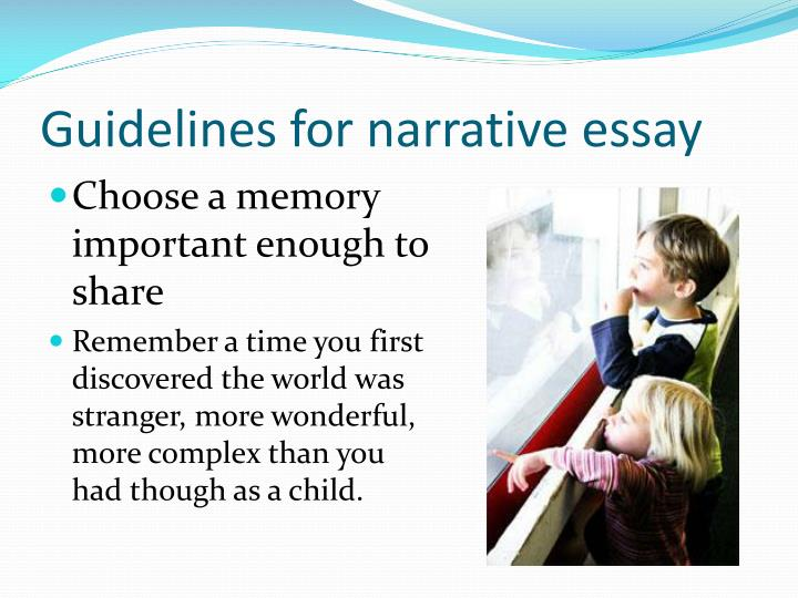 Guidelines for narrative essay