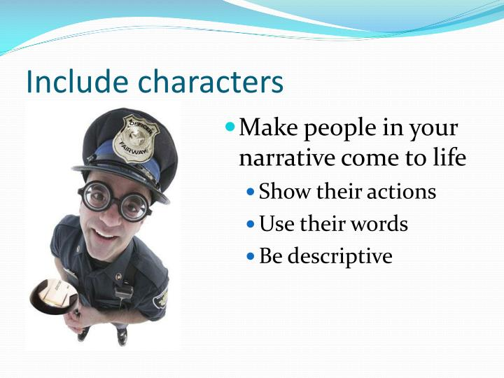 Include characters