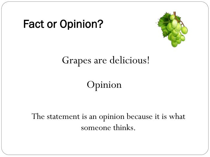 Fact or Opinion?