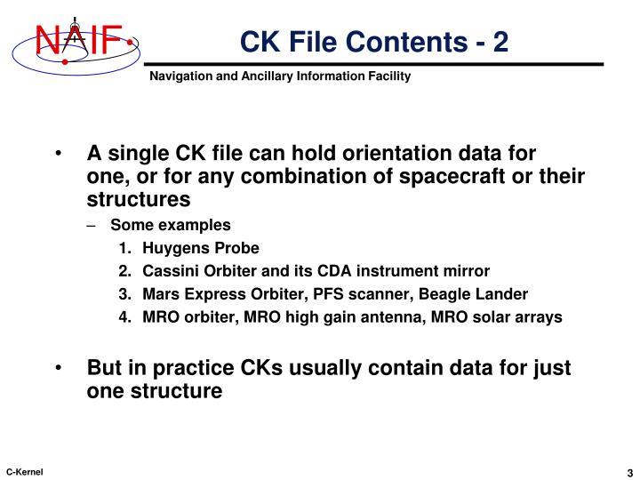 CK File Contents - 2