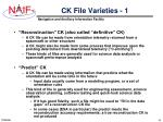 ck file varieties 1