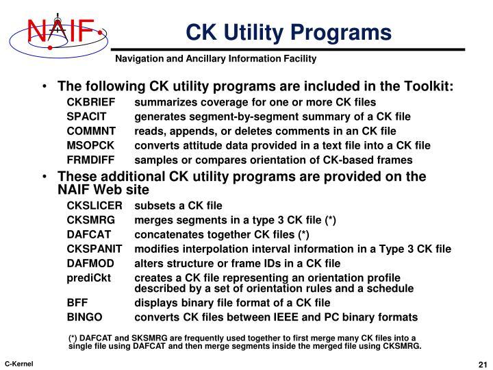CK Utility Programs