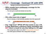 coverage contrast ck with spk