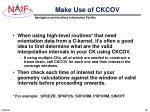 make use of ckcov