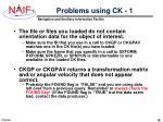 problems using ck 1