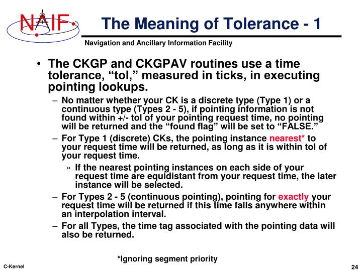 The Meaning of Tolerance - 1