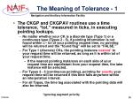 the meaning of tolerance 1