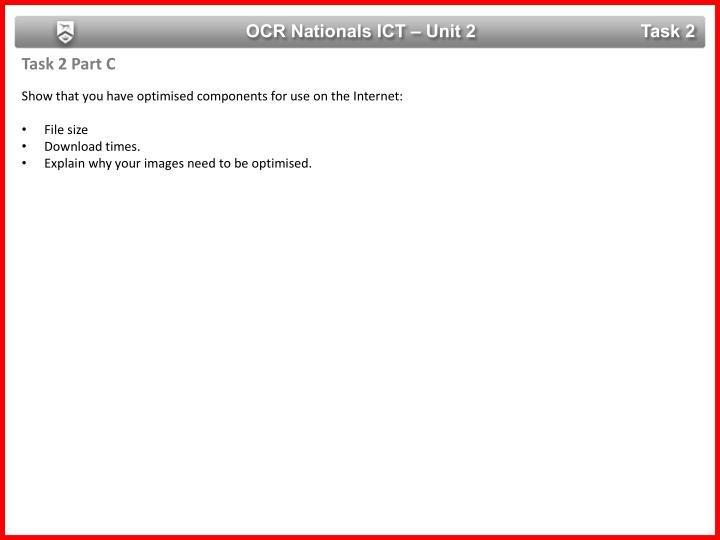 OCR Nationals ICT – Unit 2