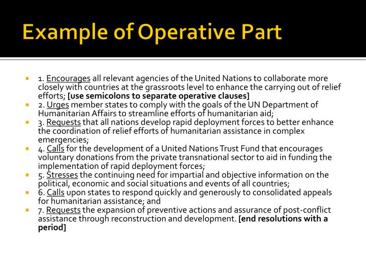 Example of Operative Part