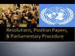 resolutions position papers parliamentary procedure