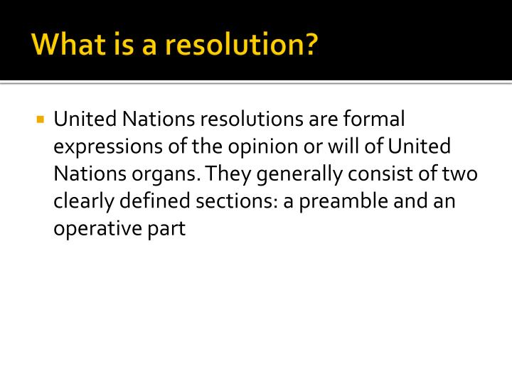 What is a resolution