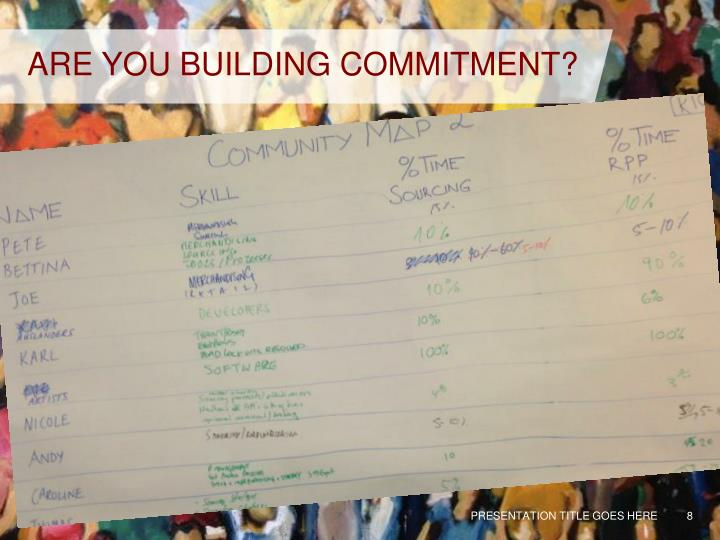 ARE YOU BUILDING COMMITMENT?