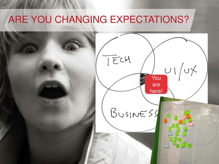 ARE YOU CHANGING EXPECTATIONS?