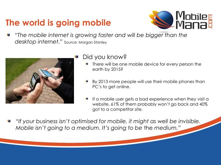 The world is going mobile