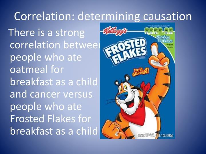 Correlation: determining causation