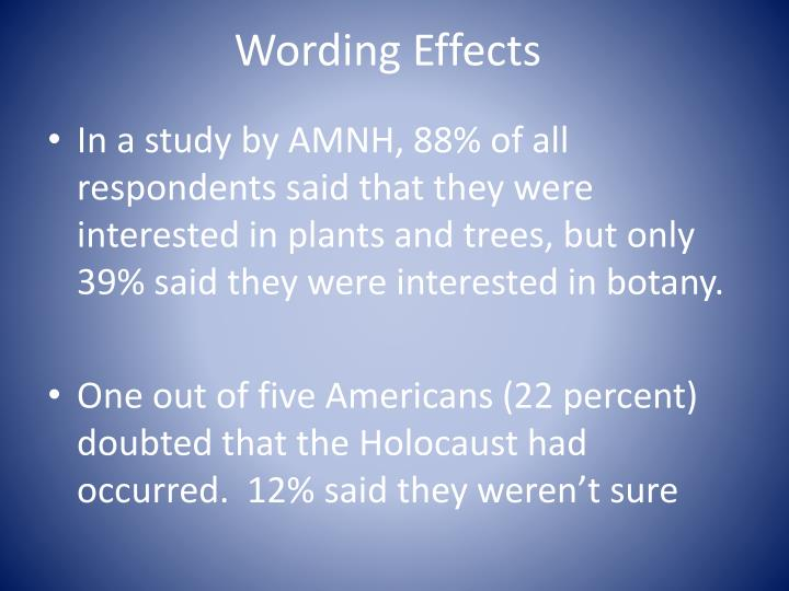 Wording Effects