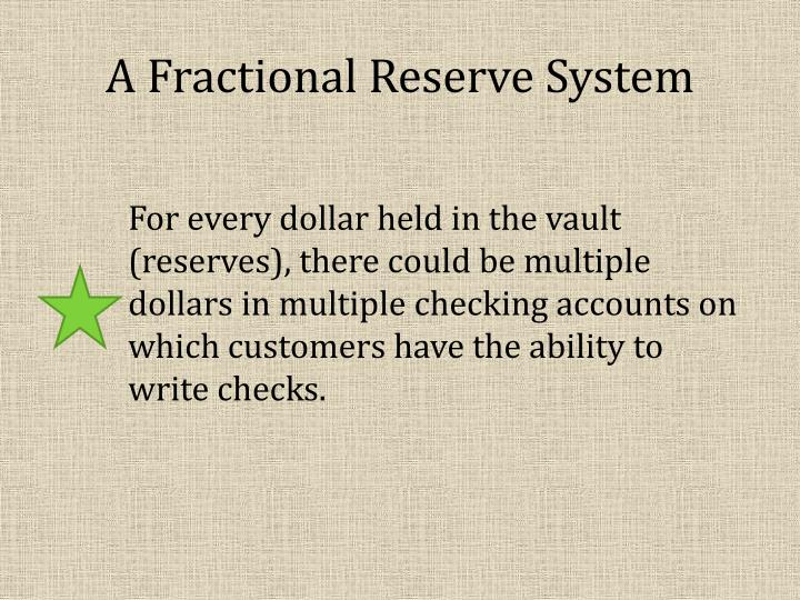 A Fractional Reserve System