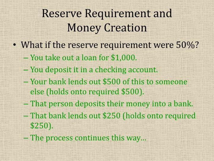 Reserve Requirement and
