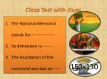 cloze test with clues