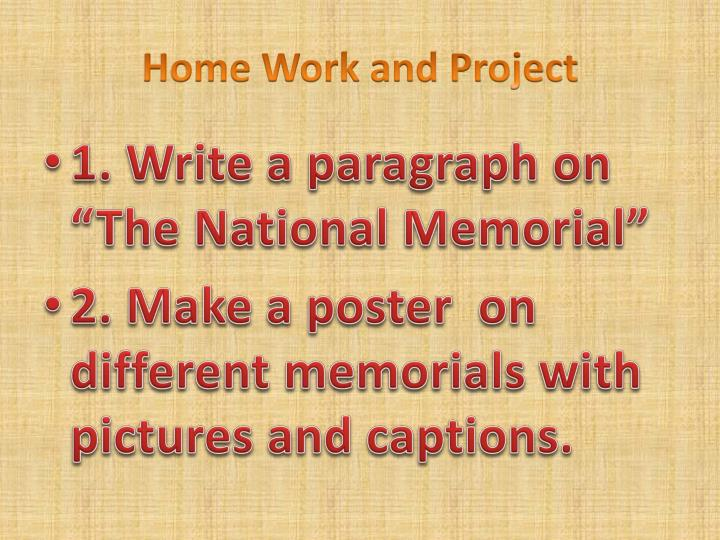 Home Work and Project
