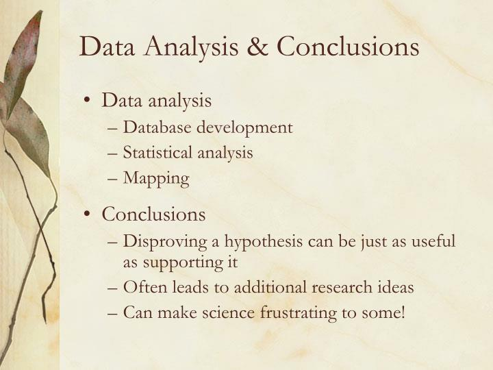 Data Analysis & Conclusions