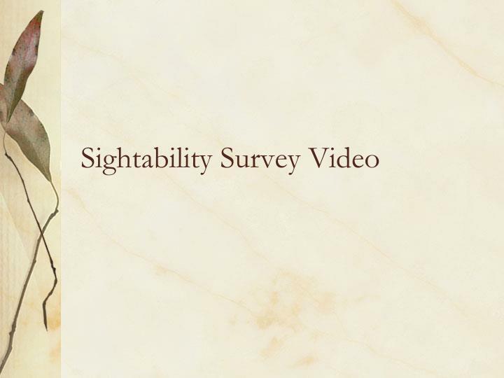 Sightability Survey Video