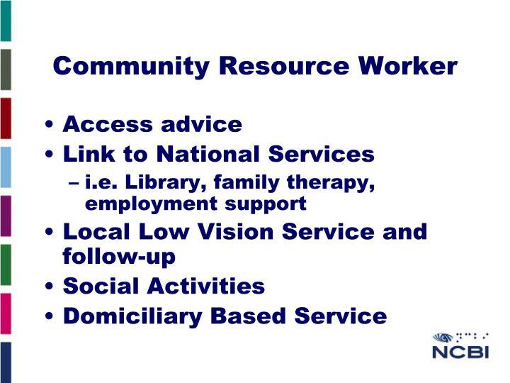 Community Resource Worker