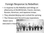 foreign response to rebellion