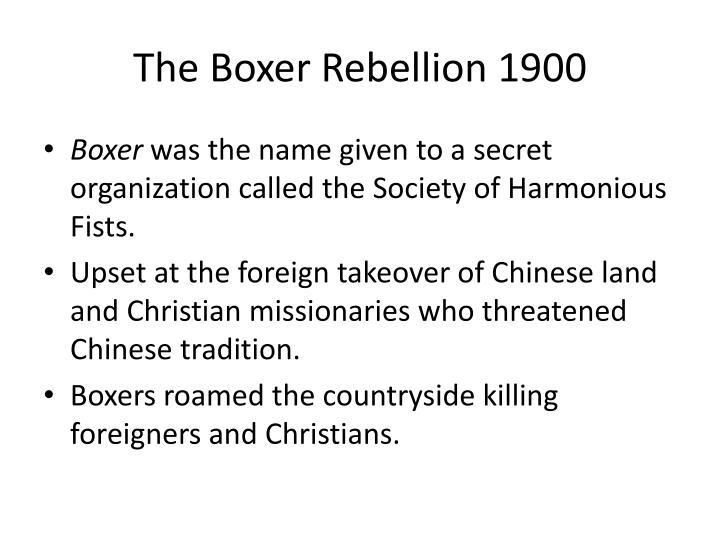 The Boxer Rebellion 1900
