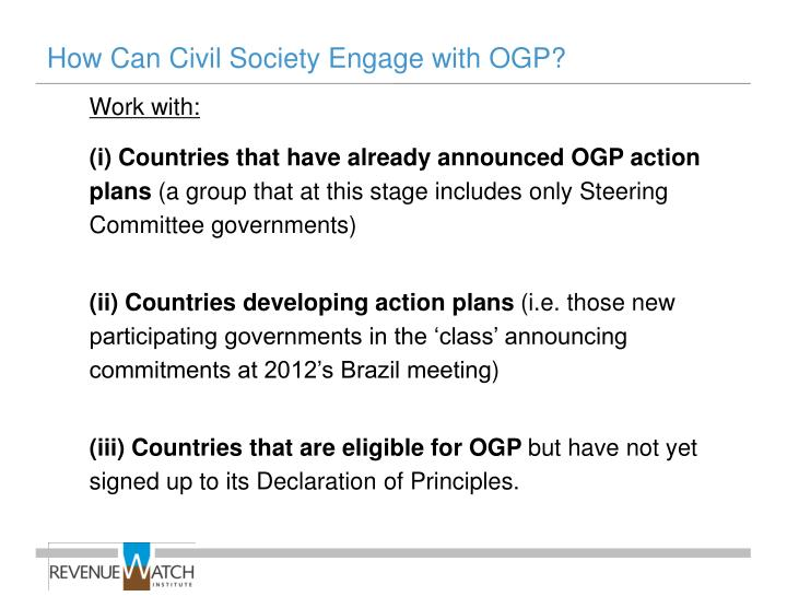 How Can Civil Society Engage with OGP?