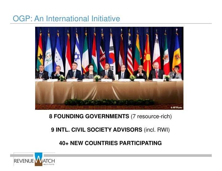 OGP: An International Initiative
