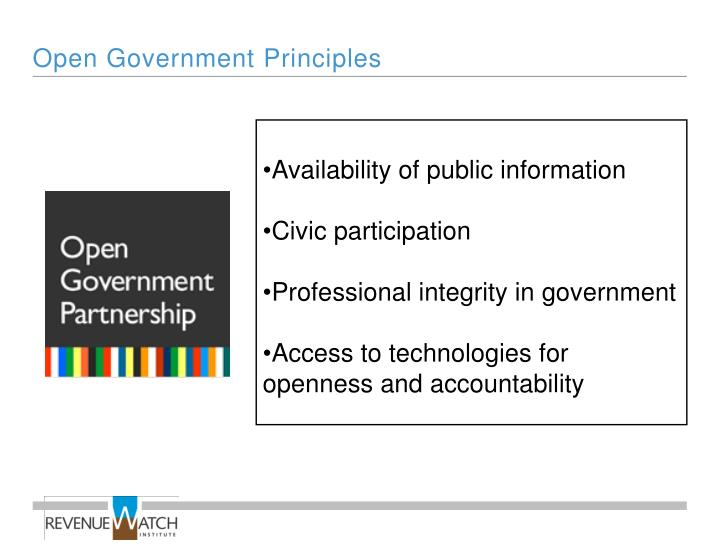 Open Government Principles