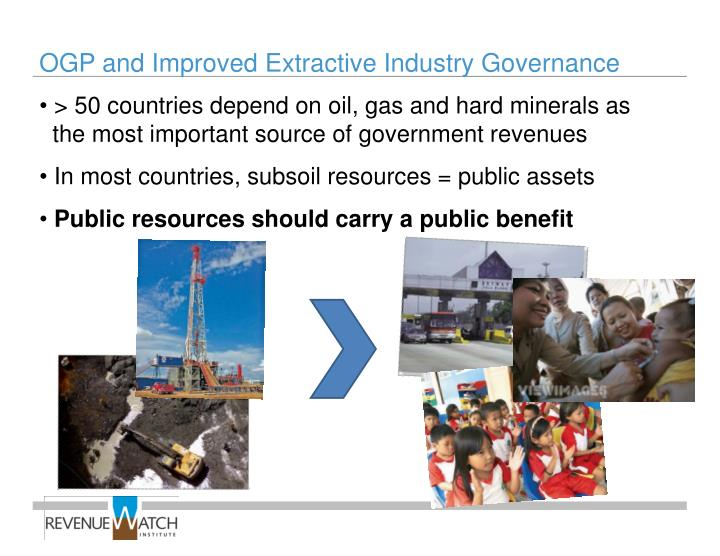 OGP and Improved Extractive Industry Governance