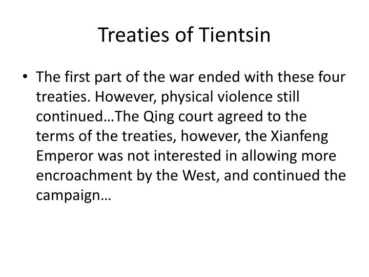 Treaties of Tientsin