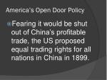 america s open door policy