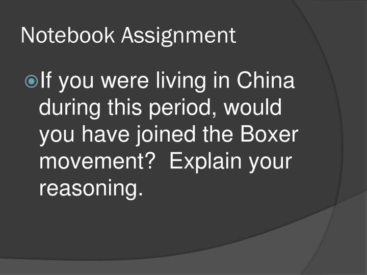 Notebook Assignment