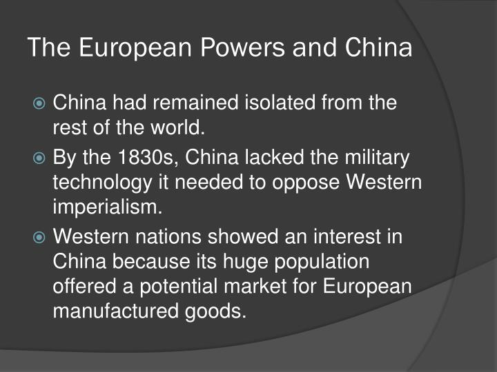 The European Powers and China